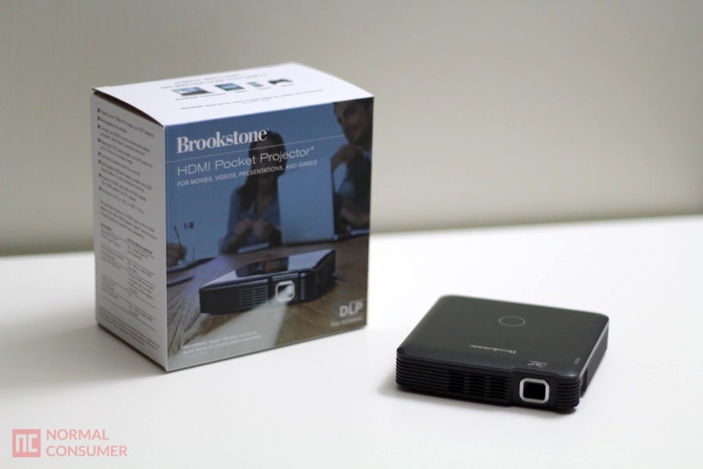 Brookstone pocket projector review normal consumer for Portable pocket projector reviews