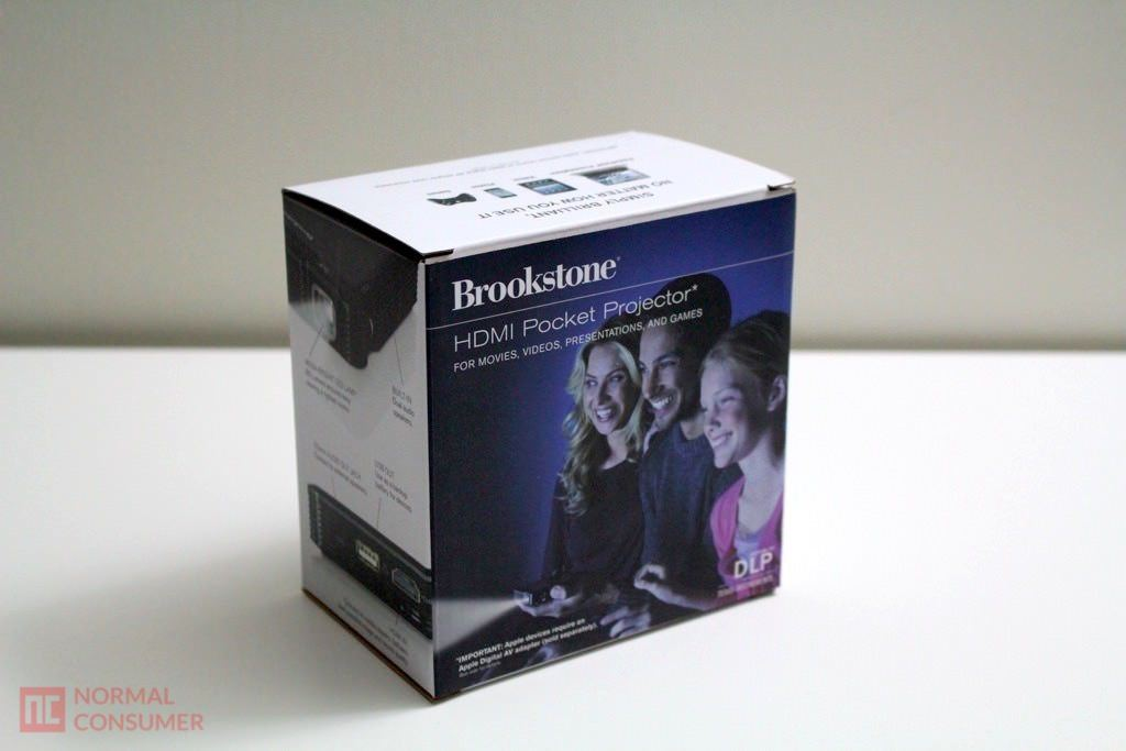 Brookstone pocket projector review normal consumer for Highest lumen pocket projector