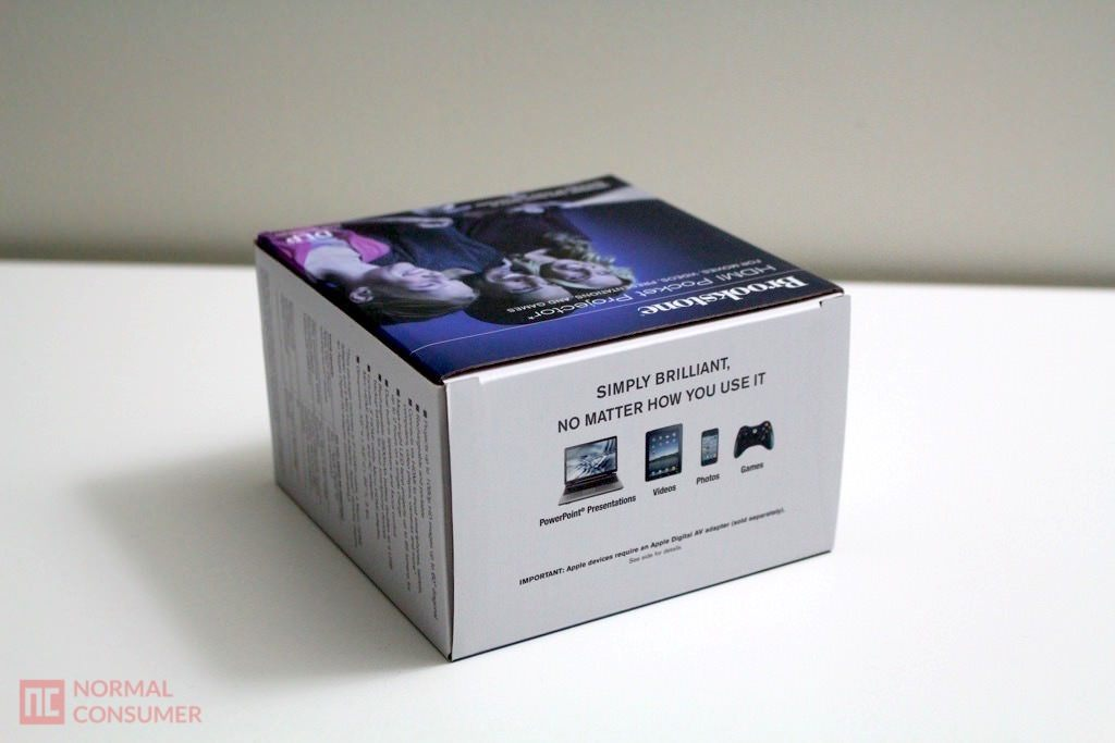 Brookstone pocket projector review normal consumer for Pocket projector case